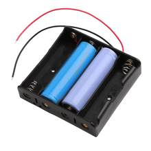 ALLOYSEED ABS 18650 Battery Holder Hard 4 Slots 18650 Holder Batteries 18650 Case Box Rechargeable DIY Battery Power Bank Case(China)