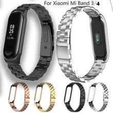 Ремешок duoteng для xiaomi mi band 3 4 металлический браслет