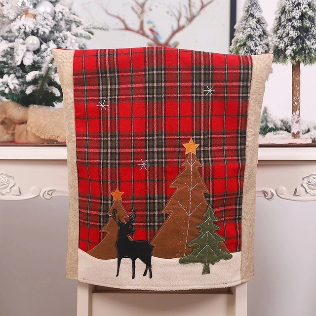 2 шт рождественские чехлы для стульев кухонные чехлы обеденных фотография