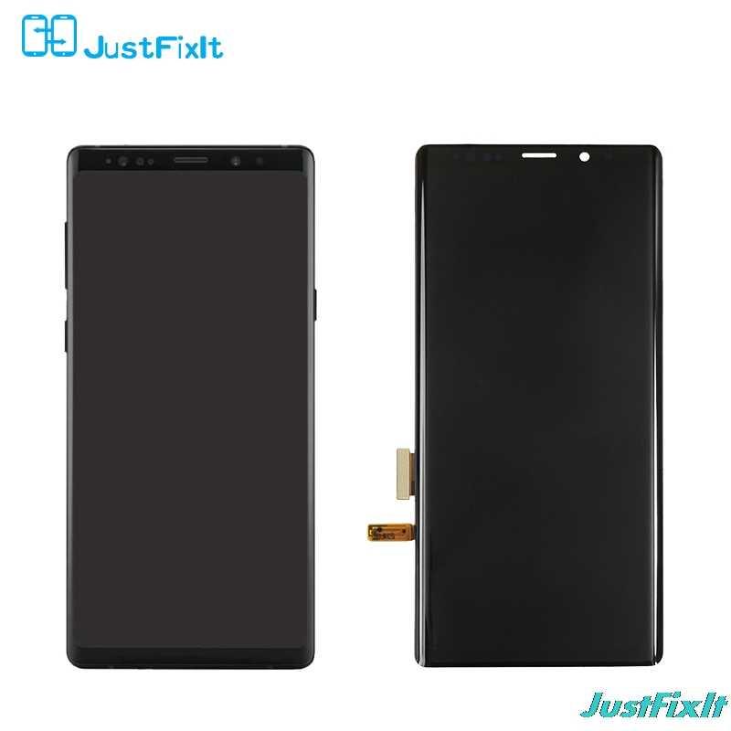 Samsung Galaxy not 9 için N960 N960F N960D N960DS kusur lcd ekran dokunmatik ekranlı sayısallaştırıcı grup süper Amoled