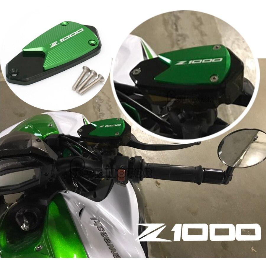 Логотип мотоцикла CNC Передняя Тормозная жидкость Крышка Резервуара Крышка для Kawasaki Z1000 z1000 2010-2019 2018 2017 2016 2015 2014 2013 2012