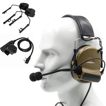 Tactical PELTOR COMTAC II electronic shooting noise reduction hunting headset and tactical U94 PTT and ARC helmet track adapter tactical comtac ii anti noise sound amplification electronic noise reduction shooting headphones and tactical ptt u94 ptt de