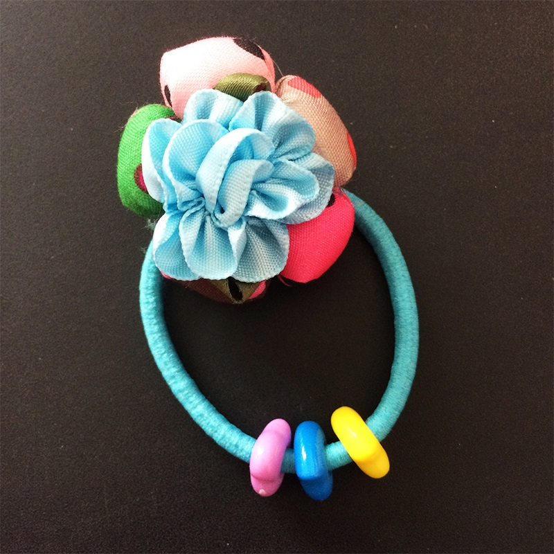 1 Pcs lot Hair Accessories For Girl Women Ribbon Rose Hair Rope Super Elastic Headbands Scrunchie Floral Printed Ponytail in Hair Accessories from Mother Kids