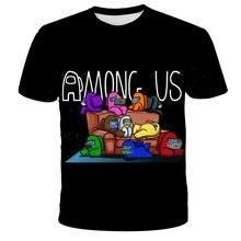 Entre nós camiseta crianças 3d meninos roupas o-pescoço vídeo game impostor dos desenhos animados t camisa de manga curta t streetwear kawaii verão topos
