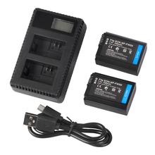 2 Pack NP-FW50 Replacement Battery and LCD Rapid Dual Charger for Sony Alpha a7, a7 II, a7R, a7R II, a7S, a7S II, a5000, a5100, цена и фото
