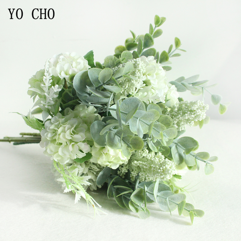 YO CHO Chrysanthemum Wedding Flower Bouquets Decorative Chinese Flower Crab-apple Flower Decoration Bouquets For Home