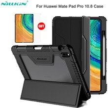 Nillkin ipad caso para huawei matepad pro caso de couro do plutônio caso capa inteligente suporte com lápis titular para huawei matepad pro 10.8