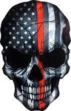 Pegatina de Metal para ventana puerta o pared de ordenador portátil, pegatina para casco de motocicleta con diseño de demonio, monstruo, zombi, militar, soldado, americano