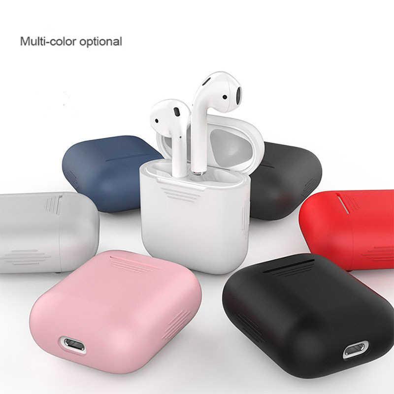ミニソフトシリコンケース Apple の Airpods 耐衝撃 Apple AirPods イヤホンケース超薄型空気ポッドプロテクターケース