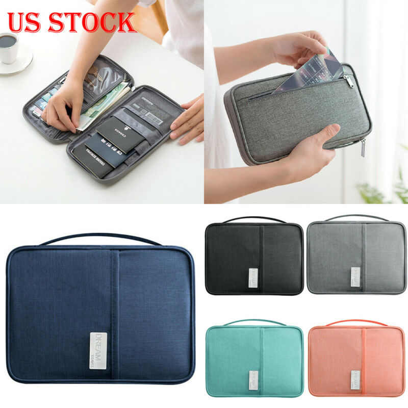 New Fashion Travel Wallet Family Passport Holder Creative Waterproof Document Case Organizer