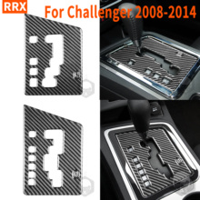 Für Dodge Challenger 2008 2014 Carbon Fiber Schalthebel Abdeckung Trim Aufkleber Auto Styling Innen Geändert Zubehör Hellcats