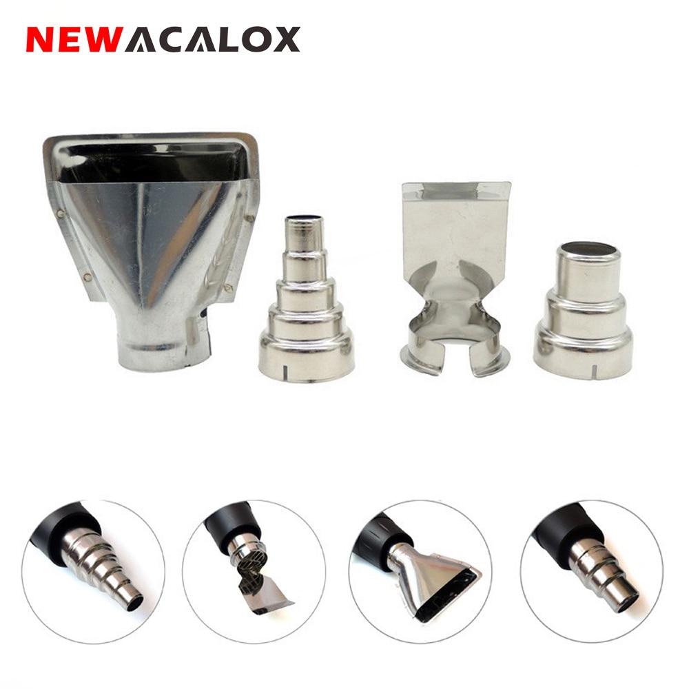 NEWACALOX 4PCS/lot Heat Gun Nozzles Electric Kit Accessories DIY  Industrial Hot Air Gun  Tools Shrink Wrap