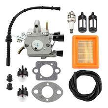 Carburetor Air Filter Primer Bulb Fuel Repower Kit fit for Stihl FS120 FS200 FS250 FS300 FS350 FR350 FR450 String Trimmer
