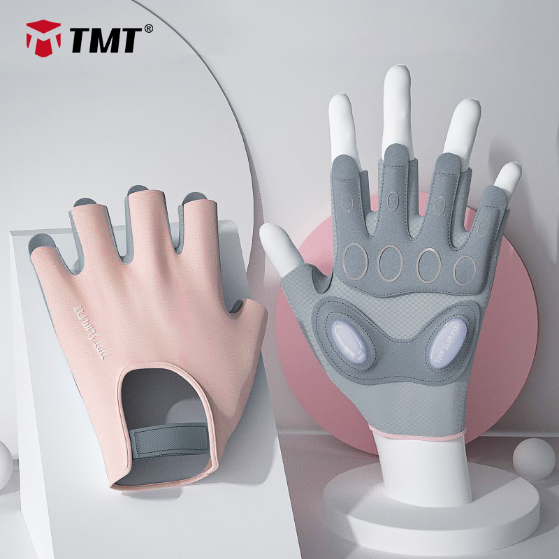 TMT Gym Gloves for Women Body Building Sports Fitness Dumbbell Workout Breathable Gloves for Crossfit Weight