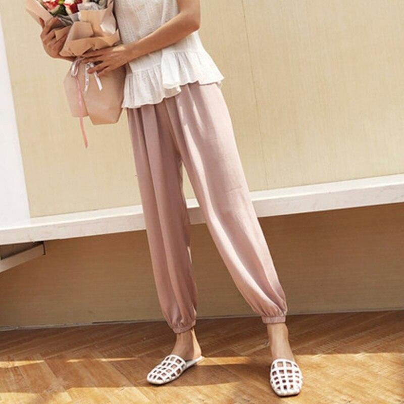 2019 Women Summer Elegant Classic Fashion Design Comfortable And Breathable Harem Pants Loose Wild Harem Pants Home Harem Pants