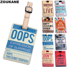 Zoukane Suitcases Bag Luggage Tag identifier Airplane Opps Adventures travel Travel Accessories Luggage Label Tag Discount LT38(China)