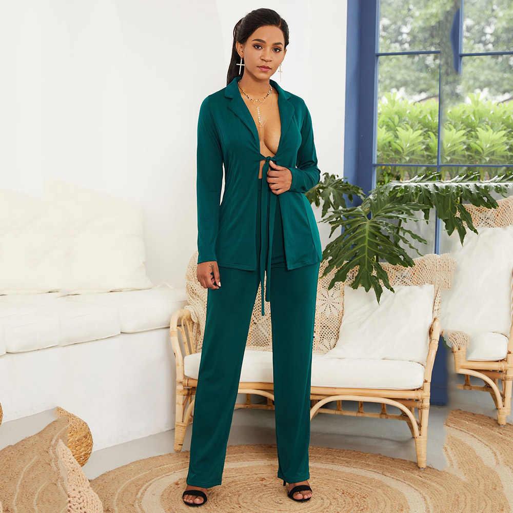 שתי חתיכה סטי משרד נשים סט תחרה עד בלייזר מעיל מכנסי קז'ואל פורמליות חליפת עסקים לבן כחול לבן אפריקאי אופנה תלבושות