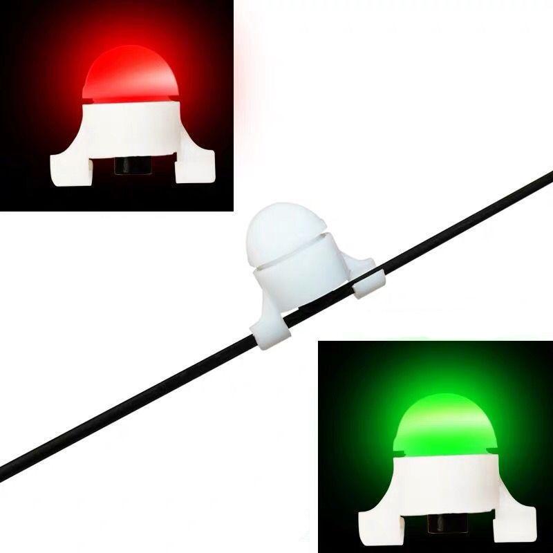1Pcs Mini LED Fishing Bite Alarm Bite No Battery Night Fishing Rod Tip Clip On Fish Strike Bite Alert Alarm Light Pesca