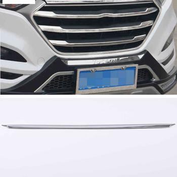 Lsrtw2017 Stainless Steel Car Front Grill Bumper Strip Trims for Hyundai Tucson 2015 2016 2017 2018 Accessories Chrome
