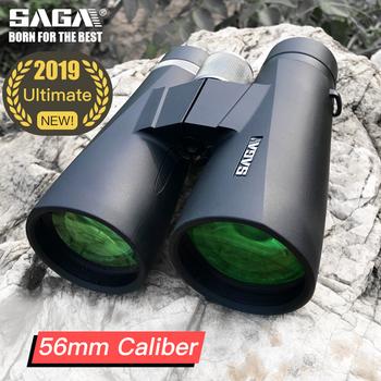 Lornetka SAGA High Power 8x10x12x56 teleskop Ultimate calibre obiektyw ed dla dorosłych Camping polowanie obserwacja ptaków narzędzia do pracy na zewnątrz tanie i dobre opinie Binoculars 8x56 10x56 12x56 Binoculars Black 8x 10x 12x 56mm 25mm SMC Super-Multi Coating BAK4 Dielectric mirror coatings + Phase correction coatings