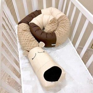 Crib Bumper Plush Pillows Crib Pads Baby Crib Liner Animal Protector Pillow Bed Children Cradle Newborn Room Decor Dropshipping