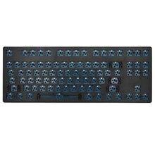 """Inteligentny kaczka xs87 87 key klawiatura mechaniczna zestaw 80% TKL """"hot swap"""" przełącznik efekt oświetlenia RGB przełącznik typu led c oprogramowania makro"""