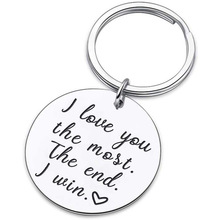 Stainless steel military dog tags for romantic lovers key chain gift