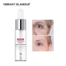 Vibrante GLAMOUR colágeno péptido suero ojo bolsas Anti envejecimiento hidratante esencia para el rostro reafirmante Anti arrugas cuidado de la piel 15ml