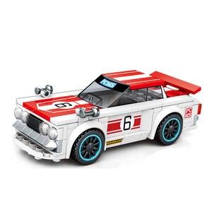 Image 3 - Sembo Block modelo de coche de carreras Speed Champions, la técnica de bloques de construcción, vehículo de ciudad, superracers, deportes, construcción, juguetes, amigos