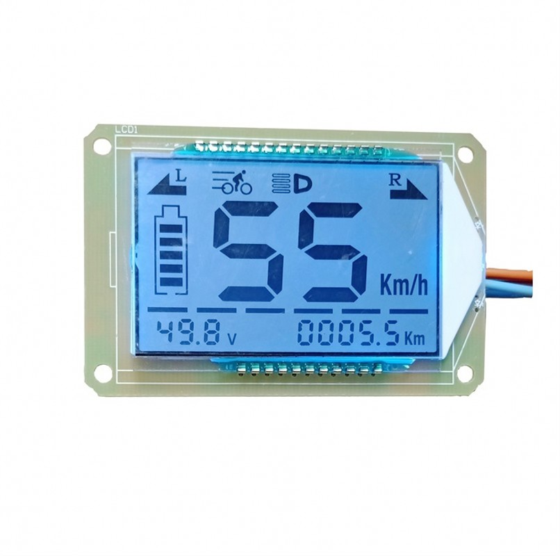 LCD Display  Multifunction Electric Bicycle 48v60v72v Watch Core Display Electric Motorcycle Voltmeter Speedometer