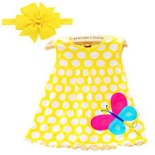 1PCS 2018 Baby Girl Dress Summer Girls Style Infantile Hot Sale Baby Girl Clothes Summer Flower Style Dress Special Offer(China)