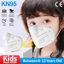 FFP2 Mask Children 5 Layers Hygienic Filter Respirator KN95 kids Face Mask Rusable Mascarillas FPP2 niños Approved ffp2mask Kids