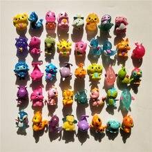 Aleatoriamente 10 unidades/pacote hatchimals hachi magia modelo 3 cm diferentes 40-50 modelos presentes de venda quente para crianças