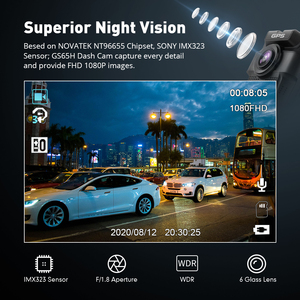 Image 2 - Original AZDOME GS65H Dash Cam Mini Dual Lens Car DVR Novatek 96655 Full HD 1080P Car Camera Night Vision For Uber Lyft Taxi