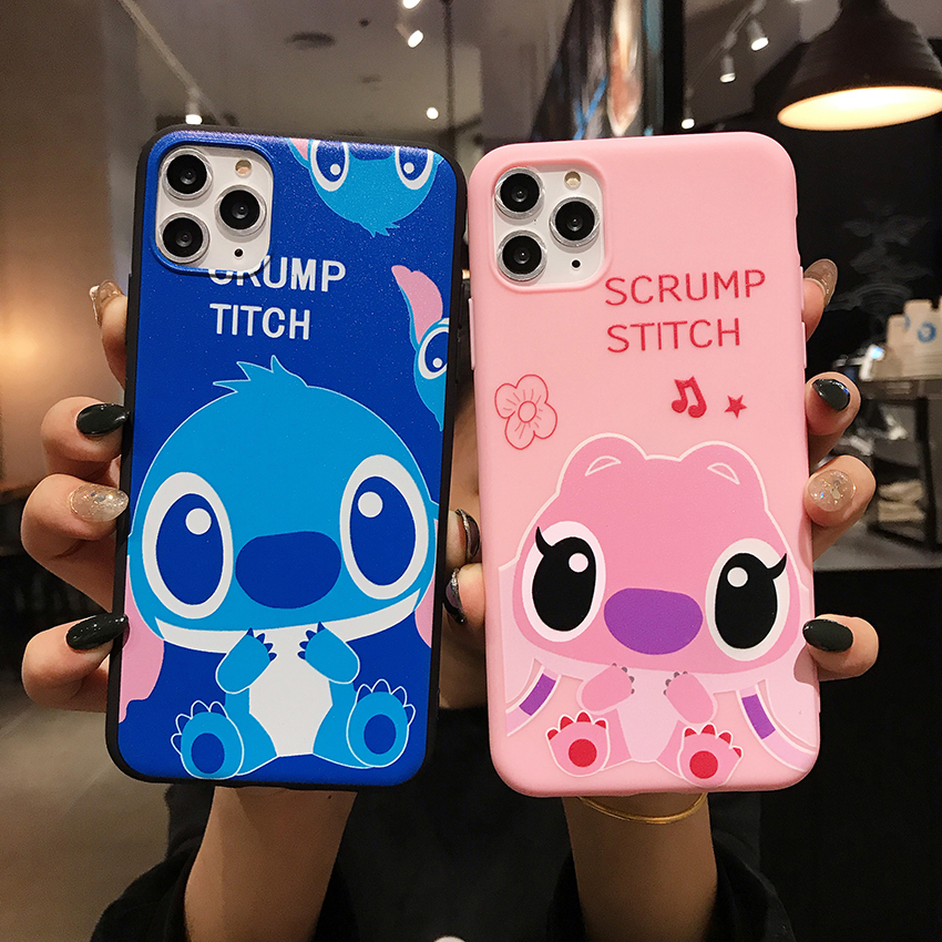 Cute Cartoon Stitch Lanyard TPU <font><b>phone</b></font> <font><b>case</b></font> For <font><b>OPPO</b></font> A3 A5S A37 A39 A57 <font><b>A71</b></font> cover For <font><b>OPPO</b></font> F5 F7 F9 F11 Pro A9 2020 Reno coque image
