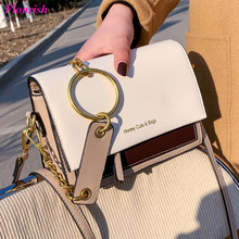 Fashion Chain Panelled Leather Shoulder Bags Women Cute Cross Body Bag Small Flap Purses and Handbags Luxury Designer Sac A Main