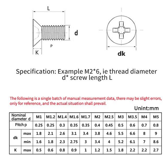 Small Laptop Screws Micro Screwdriver Set Computer Case Assemble Repair Electronic Mini Digital Mechanical Screw Kit M2 M2.5 M3 6