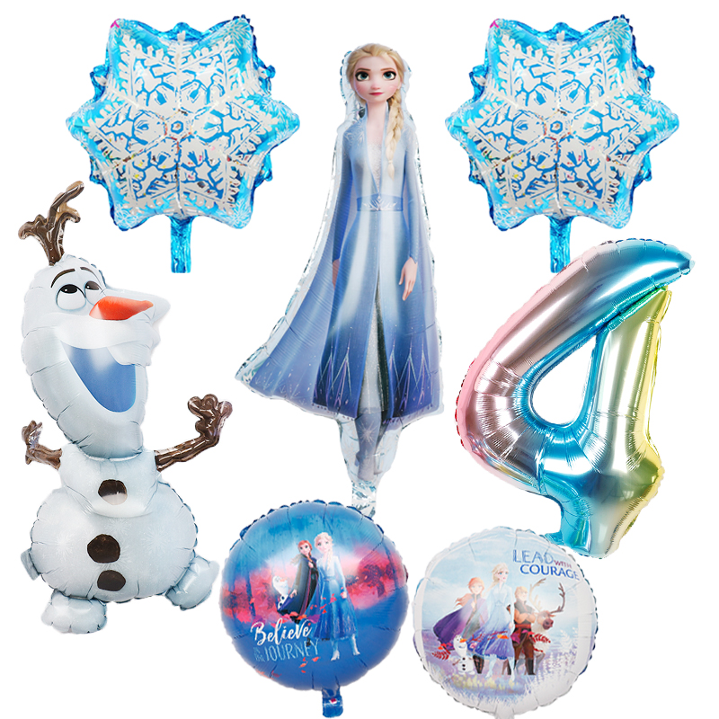 1pc nova elsa olaf disney frozen princesa folha balões chuveiro do bebê menina boneco de neve festa de aniversário decorações crianças brinquedos ar globos