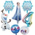 1 шт., фольгированные воздушные шары в виде принцессы Эльзы Олафа