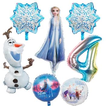 1pc new elsa olaf Disney Frozen princess foil balloons Baby shower girl snowman birthday party decorations kids toys air globos
