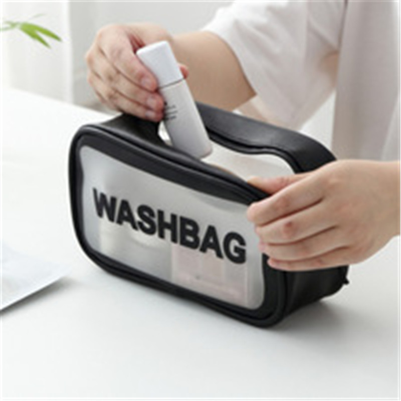 2020 New Fashion Cosmetic Bag Transparent Portable Waterproof Zipper Organizer Women Travel Toiletry Bag Makeup Bag
