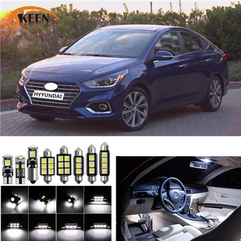 8pcs for Hyundai Accent 2012 - 2016 2017 2018 2019 Canbus led Car interior lights Package Kit led interior Dome Trunk lights 12V 6x white canbus led car interior lights package kit for 2003 2016 2017 2018 2019 toyota corolla led interior dome trunk lights