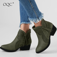 New Autumn Winter Low-Heeled Openwork Ankle Boots Women's Suede Round Toe Back Zipper Chelsea Boots Wild Style Ankle Boots D25 block heeled round toe ankle boots