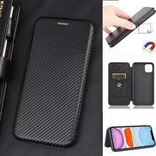 Carbon Fiber Leather Magnetic Flip Cover Case for Onplus 9 Pro 8T 8 Pro Nord N10 7T 6T 5T 3 3T Shell Wallet Card Holder