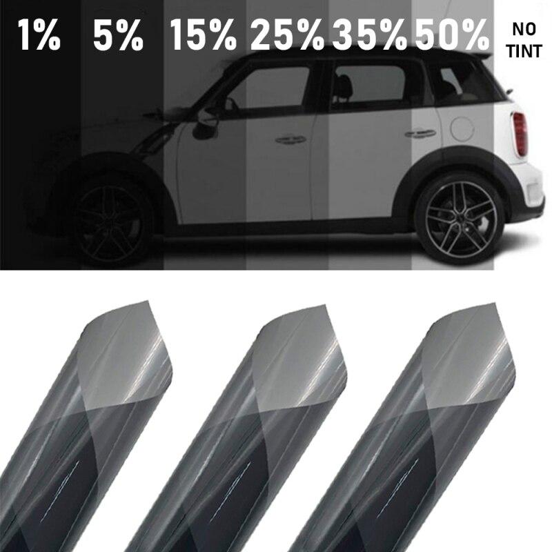 300ซม.X 50ซม.สีดำรถฟอยล์Tint Tintingฟิล์มRoll Car Auto Homeกระจกหน้าต่างฤดูร้อนพลังงานแสงอาทิตย์UV Protectorสติกเกอร์ฟิ...