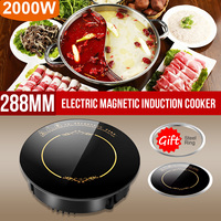 2200W Round Electric Magnetic Induction Cooker Embedded Mini Touch/Wire control Hob Waterproof Hot Pot Stove Cooktop Burner|Induction Cookers| |  -