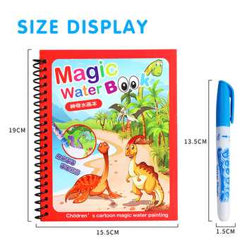 8 Types Montessori Toys Reusable Coloring Book Magic Water Drawing Book Sensory Early Education Toys For Kids Birthday Gift 2