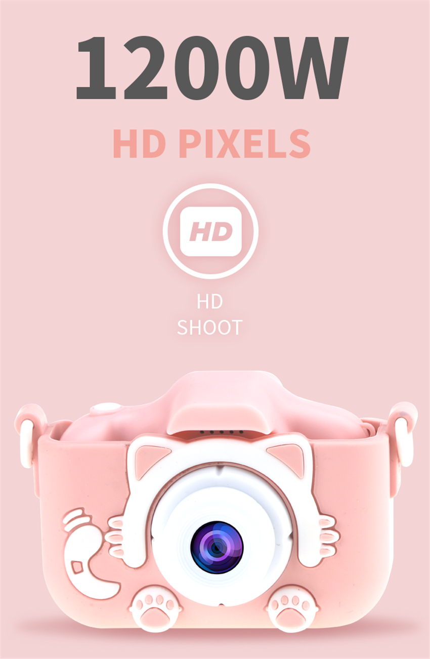 Hd40dcc36bf914e5b8c4e044602cf4ec9V x8 2.0 inch Screen Kids Camera Mini Digital 12MP Photo Children Camera with 600 mAh Polymer Lithium Battery Toys Gift