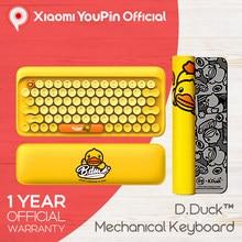 Механическая клавиатура YouPin LOFREE B DUCK, Беспроводная Bluetooth Регулируемая игровая клавиатура с синими переключателями с подсветкой для ПК, iPad, Mac...