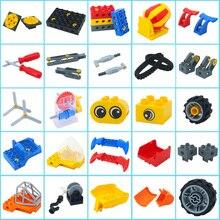 Piezas Duplos, bloques de construcción, tecnología para manualidades, accesorios de montaje de ingeniería, ladrillos grandes, pieza clásica, juguete educativo para niños